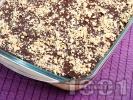 Рецепта Тирамису с шоколадова заливка и орехи